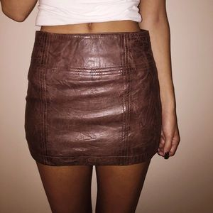 NEW Abercrombie & Fitch leather mini skirt